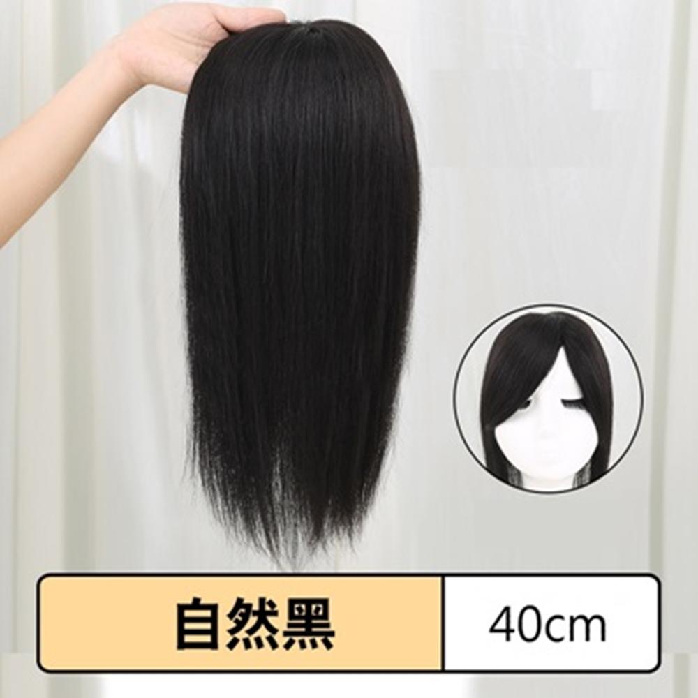 米蘭精品 假髮片真髮絲-仿真自然短直髮40cm女假髮母親節禮物73uh47