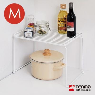 日本天馬 廚房系列桌上/水槽下兩用可層疊置物架-M
