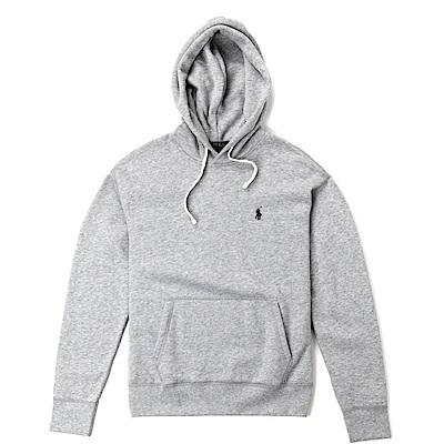 Polo Rlaph Lauren 年度熱銷經典刺繡小馬鋪棉連帽T恤-灰色
