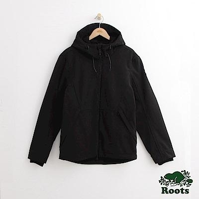 Roots 男裝-登山者軟殼外套-黑色