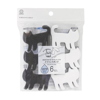 日本-小久保 小貓廚房清潔海綿(6入)