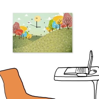 [全新展示品] 美學365 單聯式 時鐘掛畫無框畫-公園  60x40cm