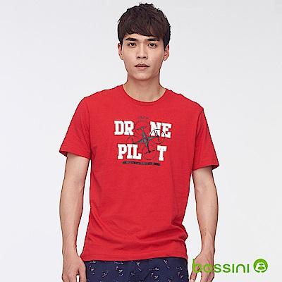 bossini男裝-印花短袖T恤47紅