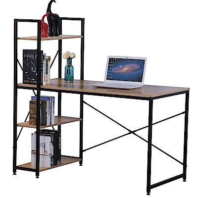 文創集 歐菲時尚4尺書桌/電腦桌組合(二色可選)-120x60x119cm免組