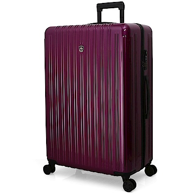 SWISSMOBILITY瑞動 經典雙線28吋PC耐撞TSA海關鎖行李箱/旅行箱 (紫色)