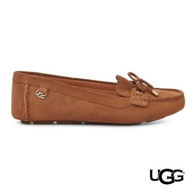 UGG女士 Eevon暖色系經典麂皮樂福鞋