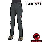 長毛象 女 SOFtech 機能4D彈性透氣快乾防潑水軟殼長褲_風暴灰