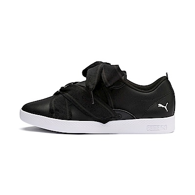 PUMA-SmashWnsBuckle女性復古網球運動鞋-黑色