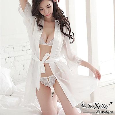 罩衫 夢幻美姬三件式睡衣組 純潔白 XOXOXO