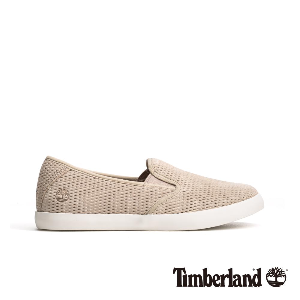 Timberland 女款灰褐色正絨面皮革便鞋|A1UZQ