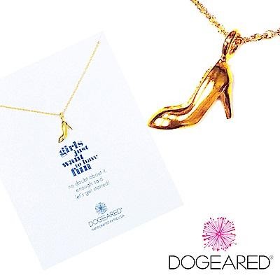 Dogeared 金色許願項鍊 高跟鞋 女孩兒們 享受人生吧 附原廠盒