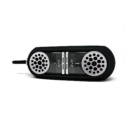 美國Knz-GoDuo無線磁吸音響/透明主體/黑色矽膠套