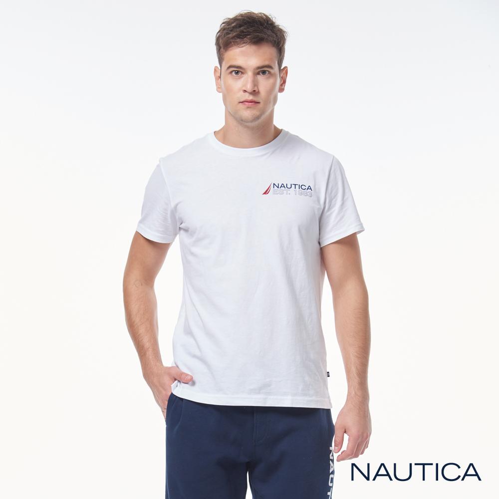 Nautica 經典圖騰短袖T恤-白色