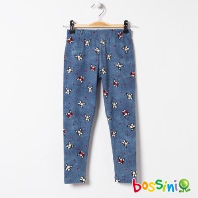 bossini女童-針織內搭褲03淡藍