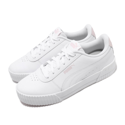 Puma 休閒鞋 Carina L 低筒 運動 女鞋 基本款 簡約 皮革 質感 穿搭 白 粉 37032529