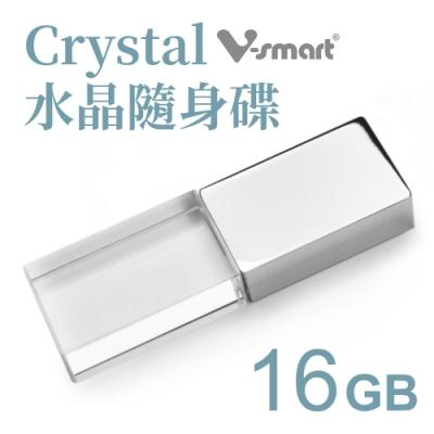 V-smart Crystal 水晶隨身碟 金屬款-16GB