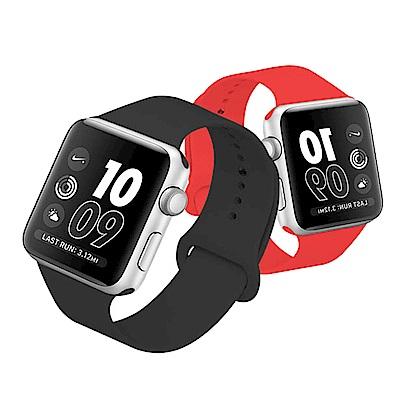 Apple Watch 1/2/3/4 純色硅膠 運動型錶帶 @ Y!購物