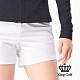 【KING GOLF】素色織帶休閒口袋短褲-白色 product thumbnail 1