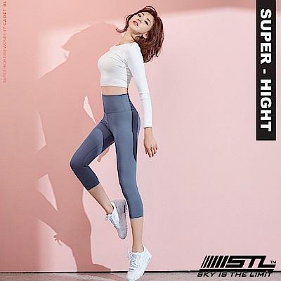 STL Wonder legging 7 韓 女 超高腰運動拉提褲 奇蹟淺藍