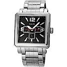 Canody 成熟個性三眼日期手錶(CM5631-A)-銀x黑/41mm