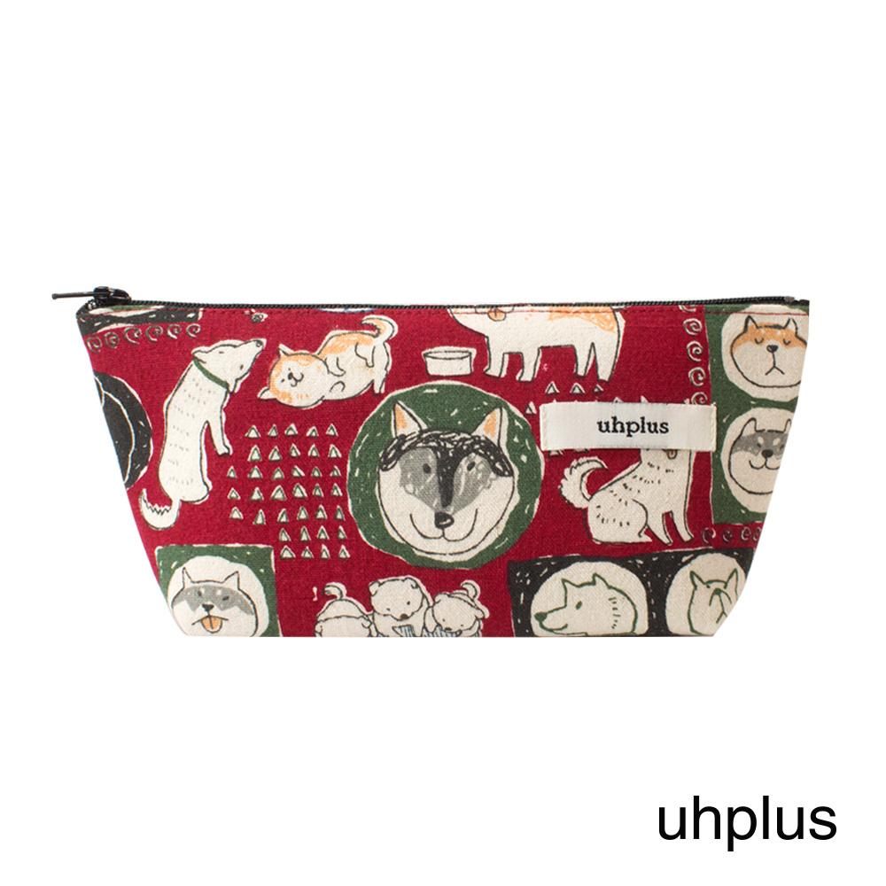 uhplus Q-plus萬用收納包- 小萌柴日記(粉)