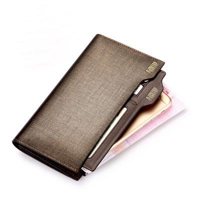 玩皮工坊-真皮金砂牛皮獨立卡位男士皮夾皮包錢夾錢包長夾男夾-LH87