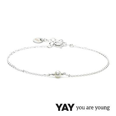 YAY You Are Young 法國品牌 Stella 珍珠手鍊 單層款 925純銀