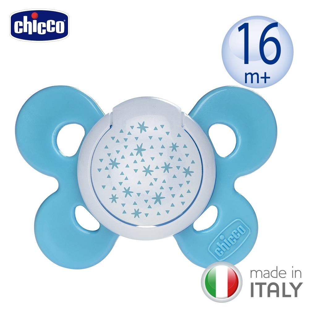 chicco-舒適哺乳-機能型矽膠安撫奶嘴1入-大  夜光 (多款)
