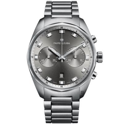 Favre-Leuba 域峰錶 Sky Chief Chronograph 雙眼機械計時手錶(00.10202.08.31.20)