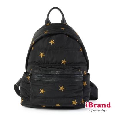 iBrand後背包 輕盈尼龍空氣包媽媽包後背包-星星
