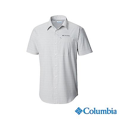 Columbia 哥倫比亞男款-UPF30快排短袖襯衫-灰色 UAO06690GY