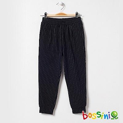 bossini女童-輕鬆針織長褲02黑