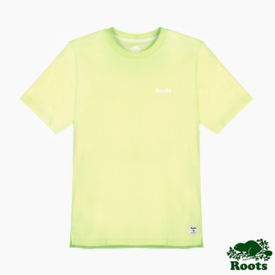 男裝Roots-炫彩霓虹短袖T恤-黃色