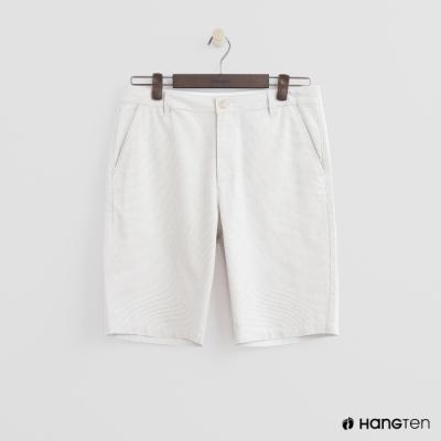 Hang Ten - 男裝 - 夏日簡約口袋短褲 - 白