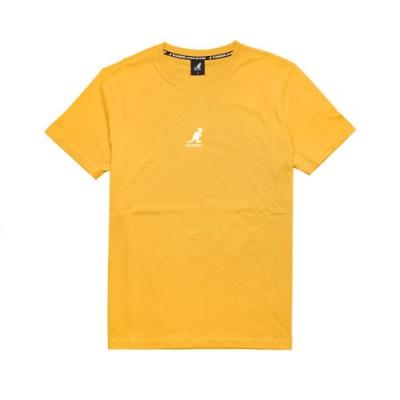 Kangol T恤 Printed Tee 運動休閒 男款 袋鼠 圓領 基本款 棉質 穿搭推薦 黃 白 6021101162