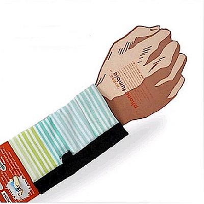 PCMAMA多用途運動手臂套手機套手腕袋手腕套Wrist Bag(黑+清雅條紋WC100;可放零錢紙鈔信用卡悠遊卡一卡通)