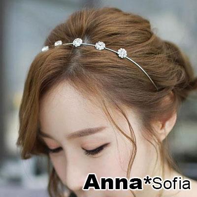 AnnaSofia 花鑽菲語 韓式細髮箍(銀系)