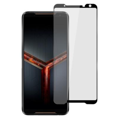 【Ayss】ASUS ROG Phone II/ZS660KL/6.0吋/平面滿版全膠/玻璃鋼化保護貼膜/四邊弧邊-黑