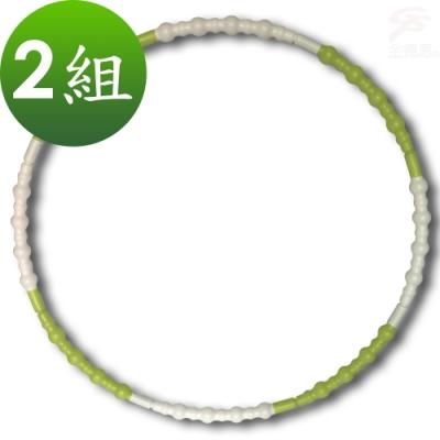 金德恩 台灣製造專利款 2組調整式組合節點健身呼拉圈86cm