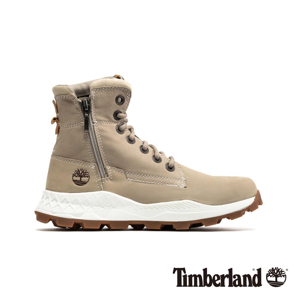 Timberland 男款淺褐色磨砂革側拉鏈靴 A1YMK