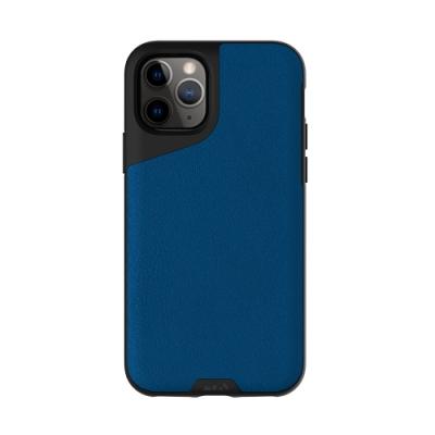 Mous Contour iPhone 11 Pro Max 天然材質防摔保護殼-沉藍皮革