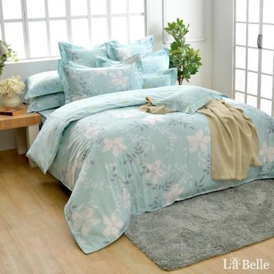 義大利La Belle 葉語柔情 加大純棉防蹣抗菌吸濕排汗兩用被床包組