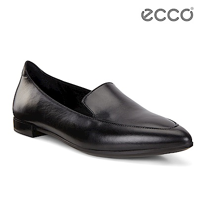 ECCO SHAPE 氣質正裝平底樂福鞋 女-黑