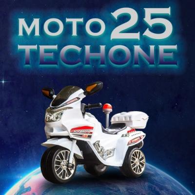 雅虎雙十一限定!TECHONE MOTO25兒童電動警車單驅三輪摩托車