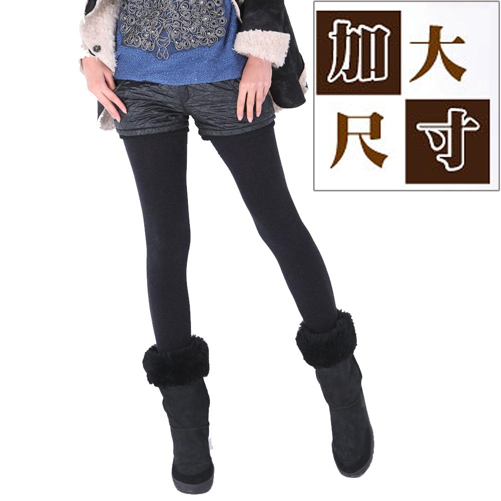 華貴 加大內刷毛超柔保暖彈性褲襪-6雙 (MIT 黑色)