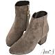 Ann'S防水機能型絨布金環素面短靴-可可 product thumbnail 1