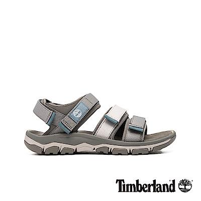 Timberland 男款中灰色舒適戶外魔鬼氈涼鞋|A1ZSQ