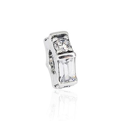 Pandora 潘朵拉 魅力幾何透明水晶 純銀墜飾 串珠