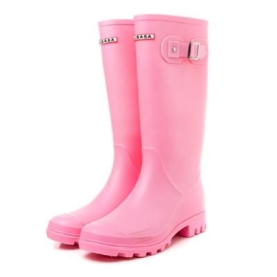 韓國KW美鞋館-輕奢女神防水扣環輕量雨鞋雨靴 粉