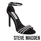 STEVE MADDEN-FIERCE-麂皮水鑽高跟涼鞋-黑色